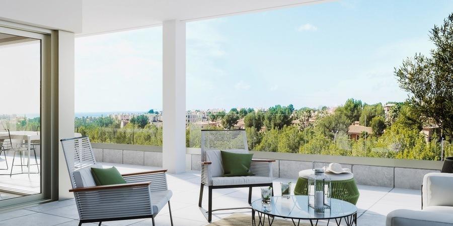 Fantastisk ny lägenhet med enorm terrass i Nova Santa Ponsa