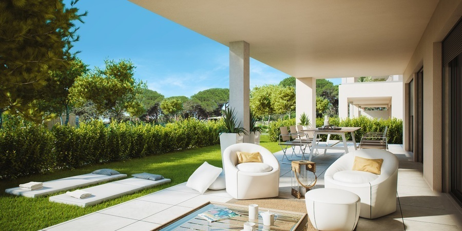 Newly built garden apartment in Nova Santa Ponsa
