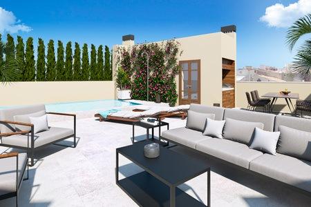 Adosado de lujo listo para entrar en Molinar con terraza solarium
