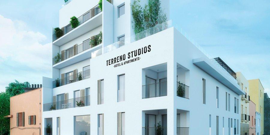 Härlig lägenhet med två sovrum och rymlig terrass i Terreno