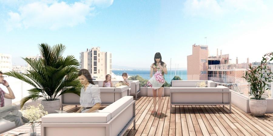 Neue Wohnung mit Erstaunliche Terrasse in Terreno