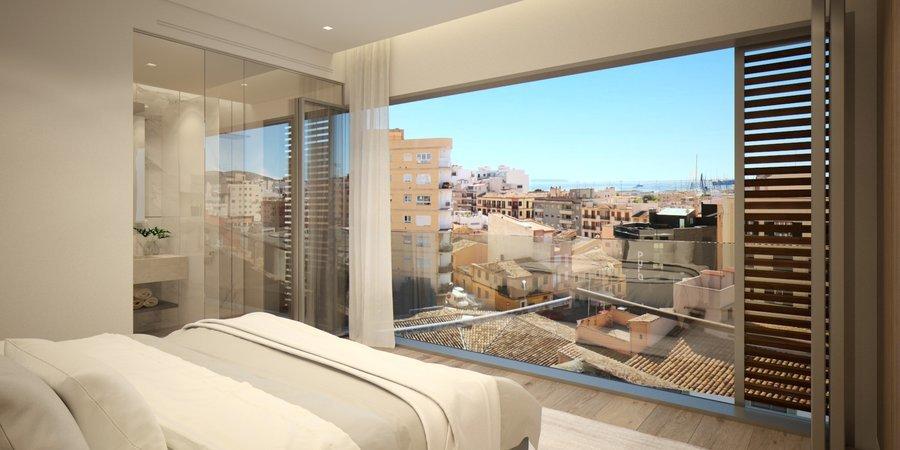 Exklusive lägenhet i övre Santa Catalina med privat terrass