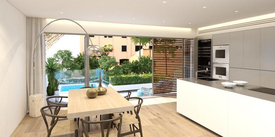Fantástico planta baja con terraza y piscina privada en la parte alta de Santa Catalina con terraza