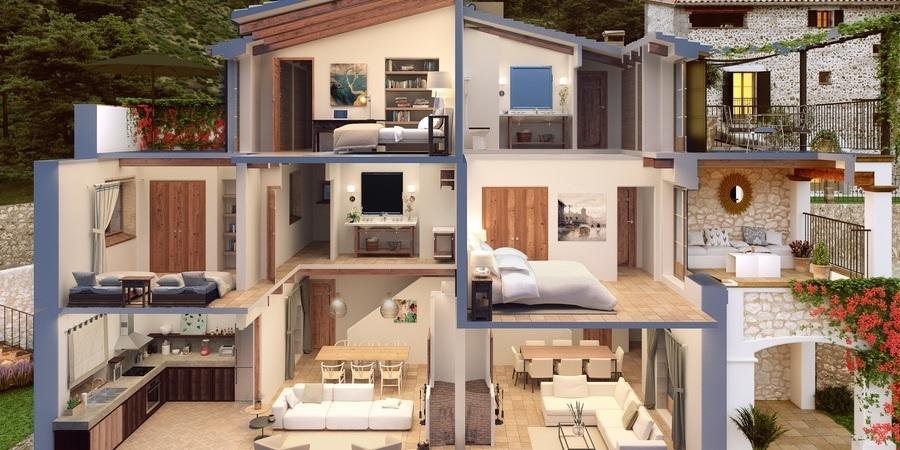 Newly built dream townhouse in Deia