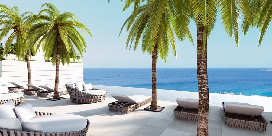 Lyxig lägenhet med havsutsikt i Cala Mayor