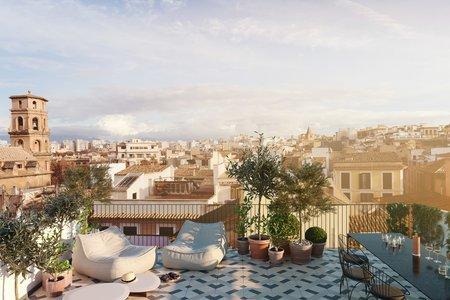 Apartamento dúplex de nueva construcción con azotea privada en el Casco Antiguo de Palma