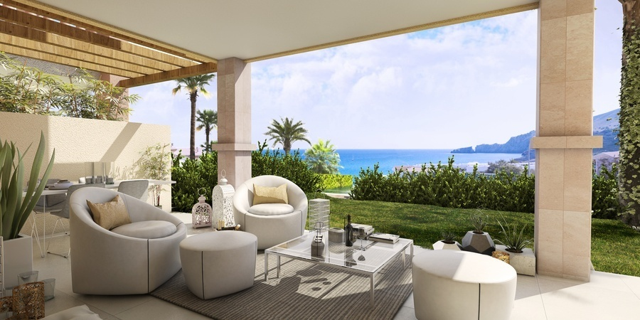 Amazing new apartment with sea views in Cala Mesquida