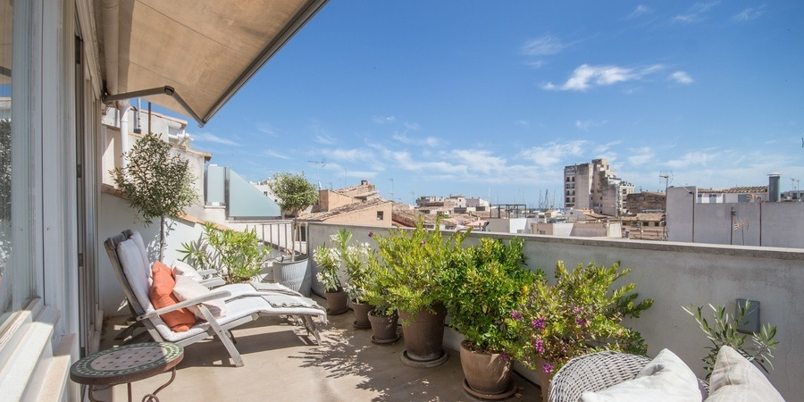 Corner duplex apartment with a nice terrace in Santa Catalina
