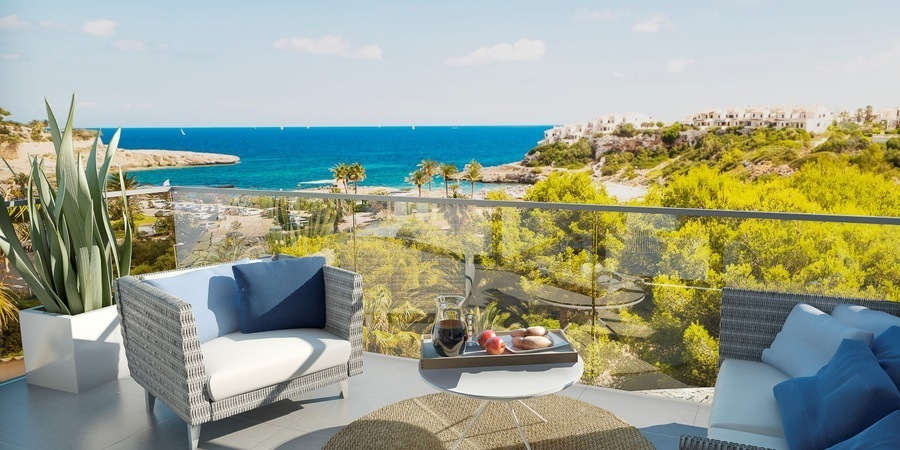 Amazing new beach townhouse with sea views in Cala Murada
