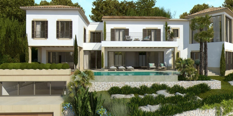 Stunning newly built villa with fabulous views in Bonanova