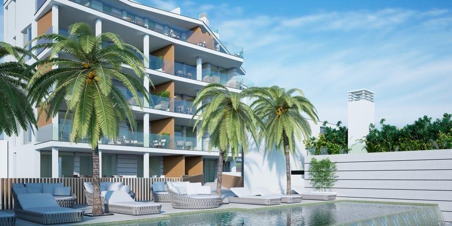 Vacker ny projektlägenhet med havsutsikt i Cala Mayor