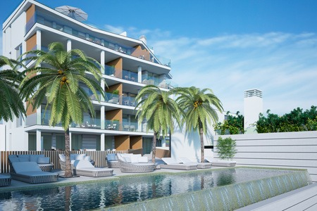 Beautiful new project apartment with sea views in Cala Mayor