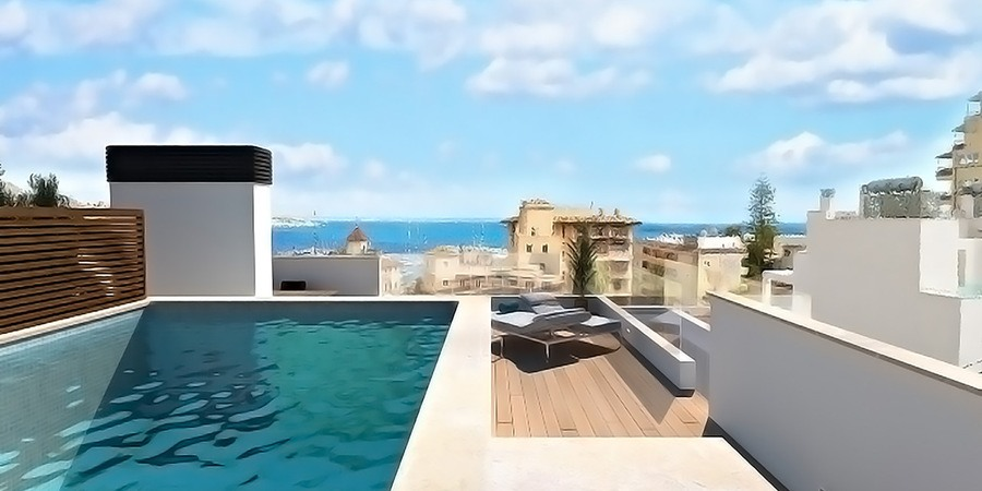 Extraordinary sea view penthouse with private pool