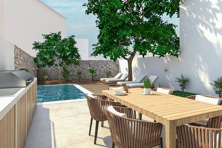 New apartment with garden and pool in the heart of Santa Catalina