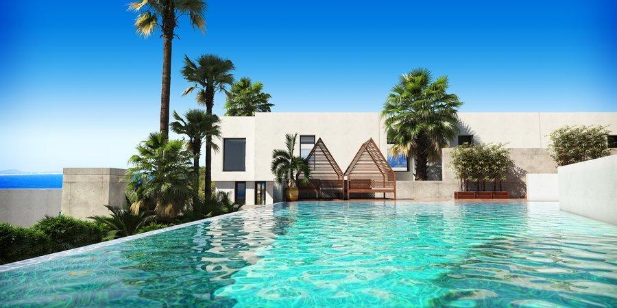 Erstaunliches Stadthaus mit Terrasse, Garten und Meerblick in Cala Vinyes