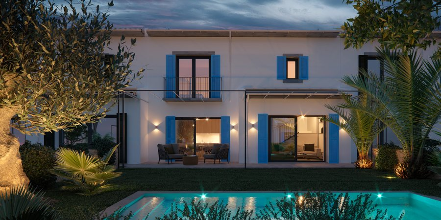 New exceptional project of eight unique townhouses in Alaro