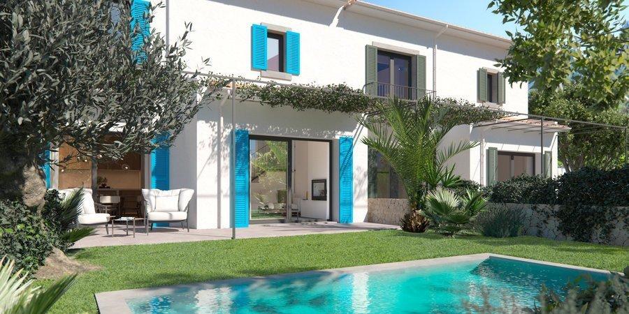 Nuevo proyecto excepcional de ocho casas unifamiliares únicas en Alaró