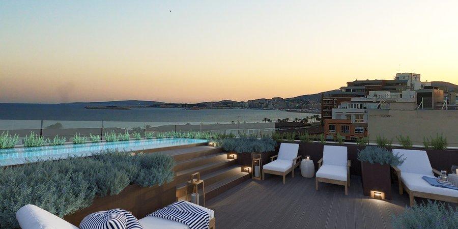 Geräumige Neubauwohnung mit Terrassen in der Nähe von Palmas Stadtstrand
