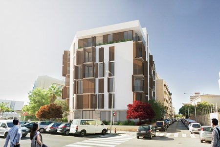 Rymlig nybyggd lägenhet med terrasser nära Palma City Beach-stranden