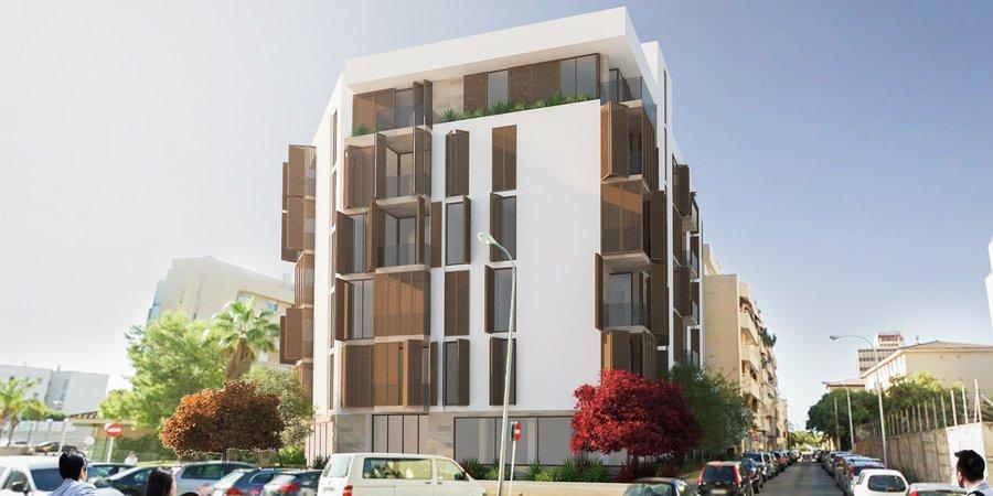 Helle Neubauwohnung mit zwei Schlafzimmern in der Nähe von Palmas Stadtstrand