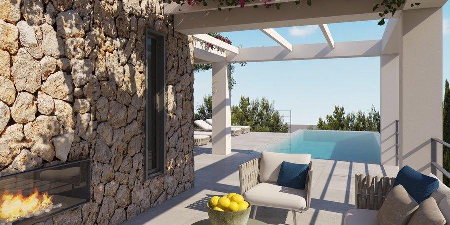 Fantastisk nybyggd modern villa med bästa läge i Santa Ponsa