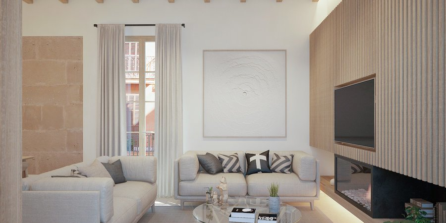 Luxury corner apartment in the heart of the Old Town in Palma