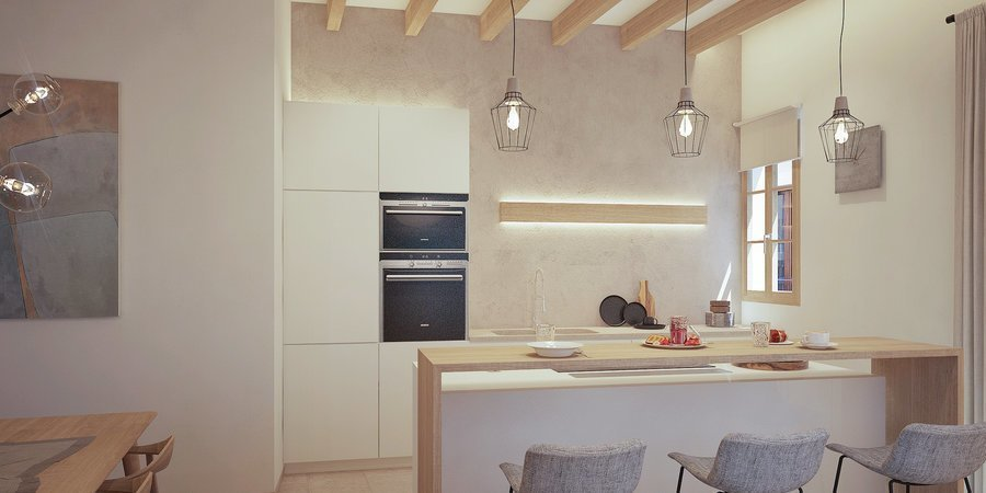 Magnificent newly built corner apartment in the centre of the Old Town in Palma
