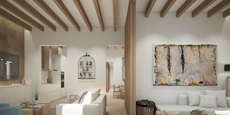 Underbar nyproducerad lägenhet med terrass i charmiga Santa Catalina