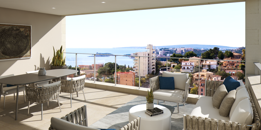 New built spacious apartment with stunning views in La Bonanova