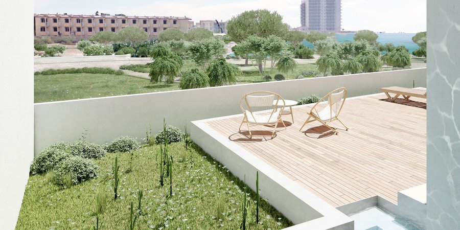 Exklusiv nybyggd etagelägenhet vid havet i Colonia de Sant Jordi
