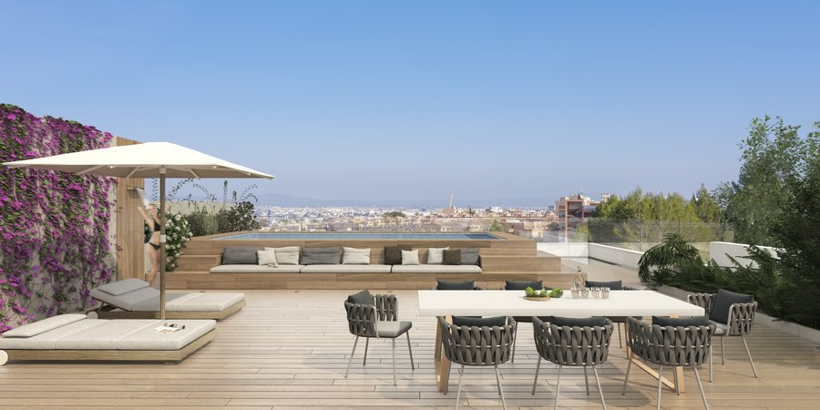Exceptional penthouse with a fantastic roof terrace very close to the Son Quint golf course