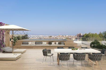Exceptionellt penthouse med en fantastisk takterrass mycket nära golfbanan Son Quint