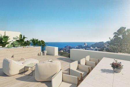 Tomt med fantastisk havsutsikt och bygglov för fyra lägenheter i San Agustin