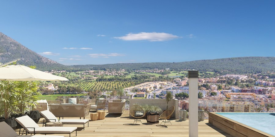 Excellent penthouse with roof terrace and pool in Santa Ponsa