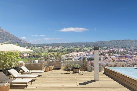 Förstklassigt penthouse med takterrass och pool i Santa Ponsa