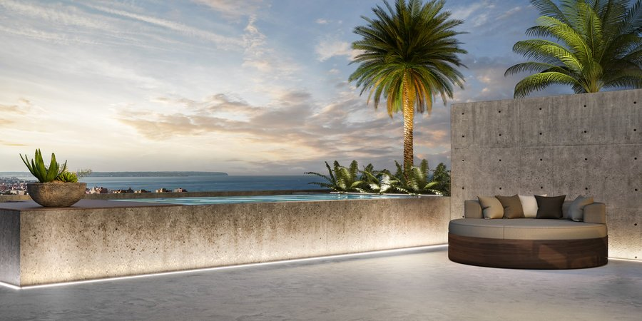 High-quality designed penthouse with sea views near Portixol