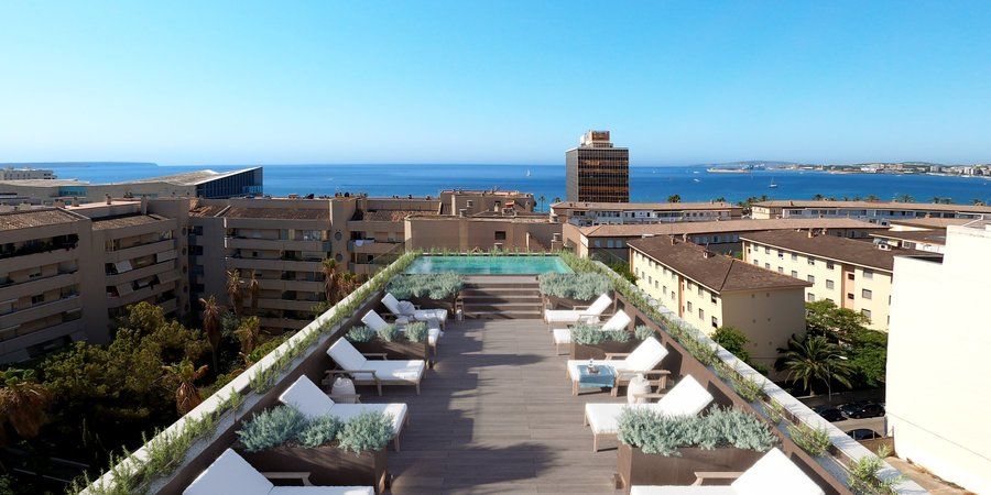 Nuevo apartamento de dos dormitorios con terraza cerca de Palma City Beach