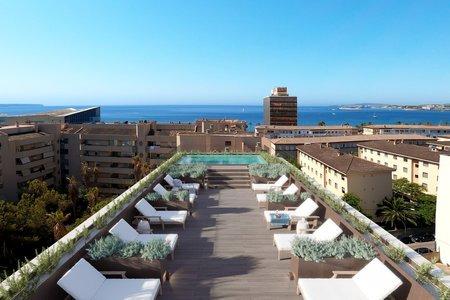 Neue Wohnung mit zwei Schlafzimmern und Terrasse in der Nähe von Palmas Stadtstrand
