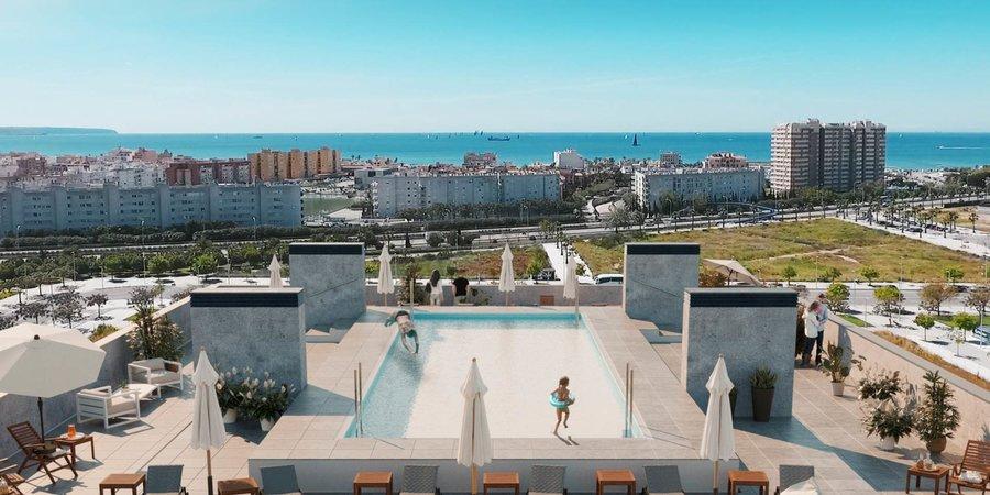 Luminoso apartamento esquinero con grandes vistas desde las terrazas en Nou Llevant