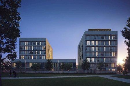 Moderna planta baja con terraza y piscina comunitaria en Nou Llevant