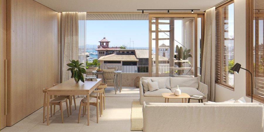 Fantastisk lägenhet med två sovrum och terrass i Son Armadams